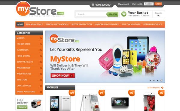 Online Shop Ecommerce Website Black Iz Shop